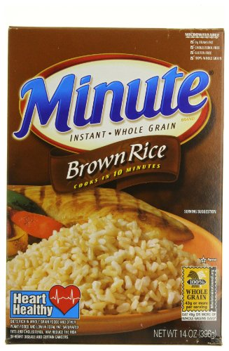 Minute Rice Brown Rice 14Ounce Pack of 6