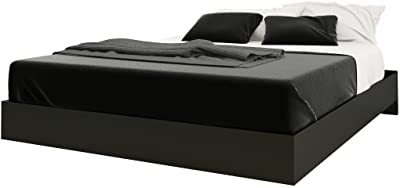 Nexera 346006 Platform Bed, Black, Queen