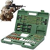 YNITJH Kit De Limpieza para Rifle Pistola Escopeta Limpiador Cepillo,Kit De Herramientas De Limpieza De Rifle De 62 Piezas,con Durable Funda Accesorios