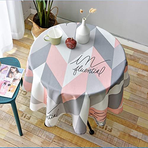 RCLYH Runde Tischdecke Im Nordischen Stil Einfaches Wasserdichtes Restaurant Hotel Runde Tischdecke Drucktablett | Tischdecken |