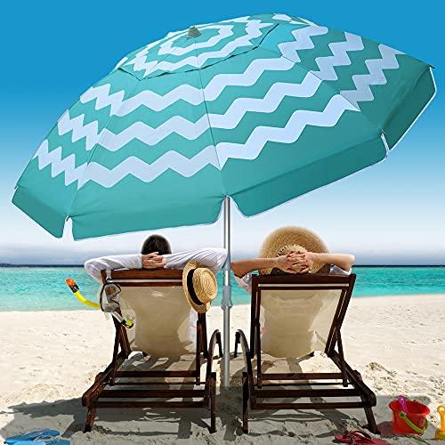 Multifun 7ft Portable Outdoor Beach Umbrella Only $26.95