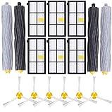 Wessper Kit de Accesorios Compatible con iRobot Roomba Recambios Roomba Series 800 805 850 860 865 866 870 871 880 886 890 891 895 896 900 960 965 966 980 para Robot Aspirador, 16in1