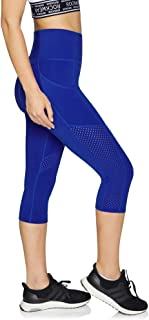 Rockwear Activewear Women's 3/4 Perforated Waist Pocket Tight from Size 4-18 for 3/4 Length Ultra High Bottoms Leggings + Yoga Pants+ Yoga Tights
