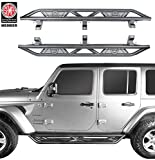 u-Box Jeep Wrangler JL Unlimited Side Step Running Board Nerf Bars w/Since 1941 Logo for 2018 2019 2020 2021 Jeep...