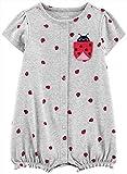 Carter's Baby Girls Ladybug Pocket Romper 3 Month Grey