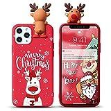 Yoedge Funda para Huawei P8 Lite 2017 / P9 Lite 2017 5,2', Navidad Carcasa Silicona Rojo con Dibujos Animados 3D Doll Ciervo Toy, Suave Fina Antigolpes TPU Protector Case Cover, Ciervo 9