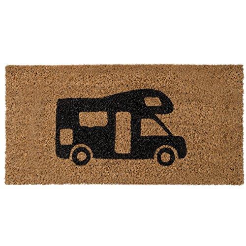 #11 Türmatte Kokos Camper 25x50 cm - Wohnwagen Fußmatte für Trittstufe 25x50cm Wohnmobil Camping Kokosmatte Nadelfilz