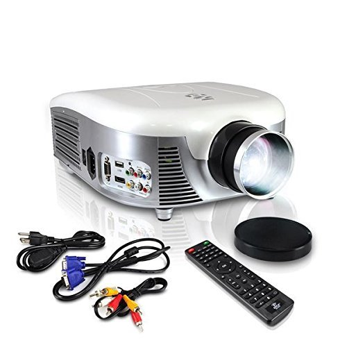 Pyle PRJD907 Widescreen,1080p HD Support,Up to 140-Inch Display LED Projector (Renewed)