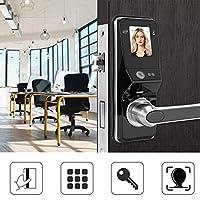 XYUANG Face Facial Recognition Door Handle Lock Smart Door Locks Electronic Keyless Password IC Card locks Home Security Accessories