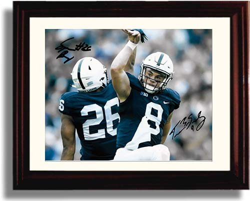 Framed Trace McSorley and Saquon Barkley Framed Autograph Replica Print - Penn State