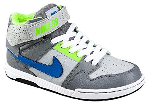 Nike Jungen Mogan MID 2 JR B Skaterschuhe, Gris/Bleu/Blanc (Gris Loup/Bleu ROI Match), 34 EU