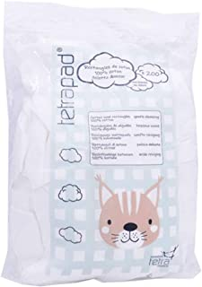 comprar comparacion Tetra Rectángulos de algodón, 8 x 10 cm, para bebés, 200 unidades