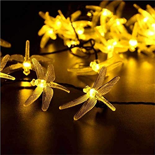 GZSC Solar kerstverlichting 30 LED 8 modi Solar Libellen-Fee-snoer licht voor kerstfeestje tuindecoratie buitenshuis lamp op zonne-energie