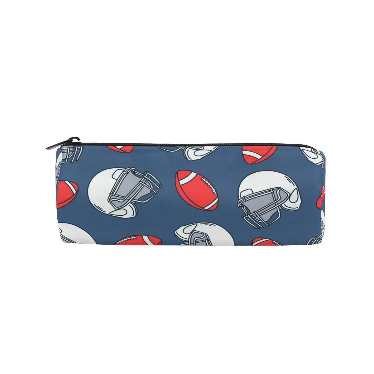 Estuche para lápices con diseño de casco de rugby para niños y niñas, bolsa para bolígrafos, bolsa para la escuela, bolsa de maquillaje redonda: Amazon.es: Oficina y papelería