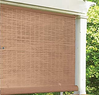 Radiance Vinyl Rollup Shade 36 in. W x 72 in. H Bamboo Cordless