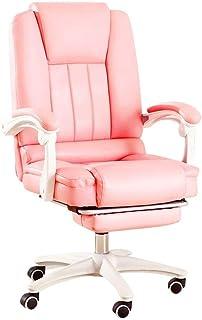 Sillas de Escritorio de Oficina Silla de oficina ejecutiva de respaldo alto de cuero de imitación Seat de la computadora de escritorio silla ergonómica diseño de los asientos de altura ajustable de in
