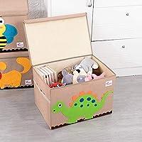 N / A Caja de Almacenamiento Plegable de Cubo Grande Organizador de Juguetes Animal de Dibujos Animados Ropa de Lona Papelera de Almacenamiento con Tapa para Libros Rellenos 51.8 * 35.8 * 35.5cm