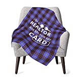 Estate Realtor I'm A Realtor Ask Me Baby Blanket for Girls Boys Soft Warm Receiving Throw Blankets