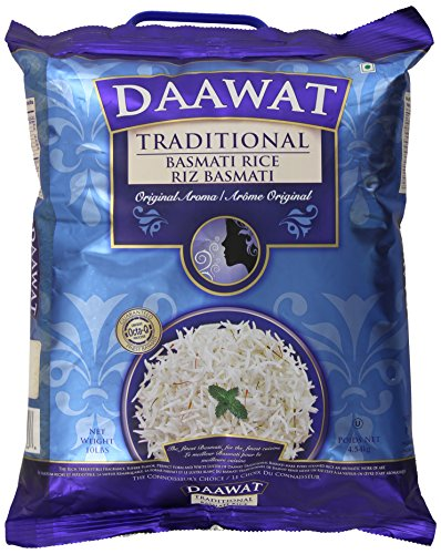 Daawat Traditional Basmati Rice, 10 Pound Packaging may vary