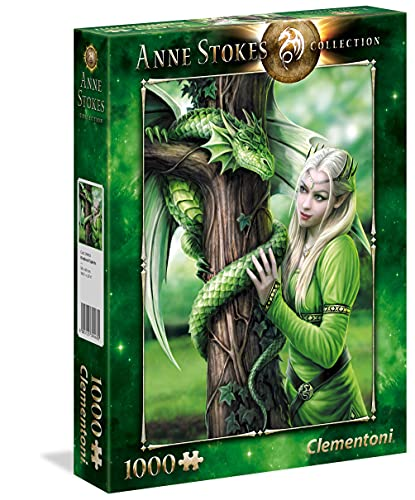 Clementoni- Anne Stokes-Kindred Spirits Puzzle, 1000 Pezzi, Multicolore, 39463