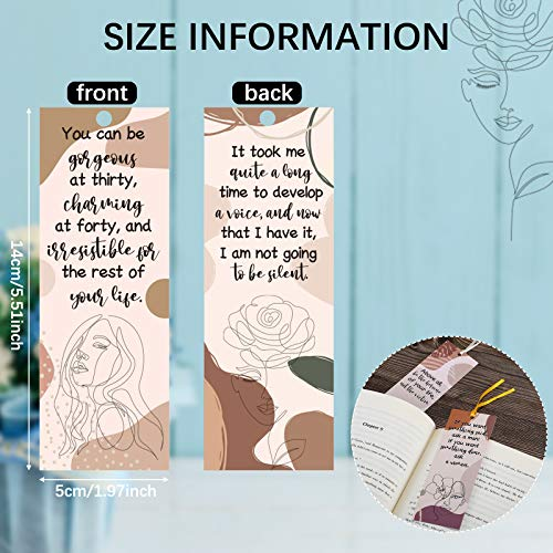60 Pieces Inspirational Quotes Bookmarks Inspirational Bookmarks for Women Motivational Bookmarks Assorted Page Markers for Book Lovers, Mothers, Grandmothers, Teens and Graduations, 12 Styles Photo #6