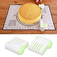 トーストスライサーキッチン用サンドイッチ用調節可能なパンスライサー(Green 52036-A)