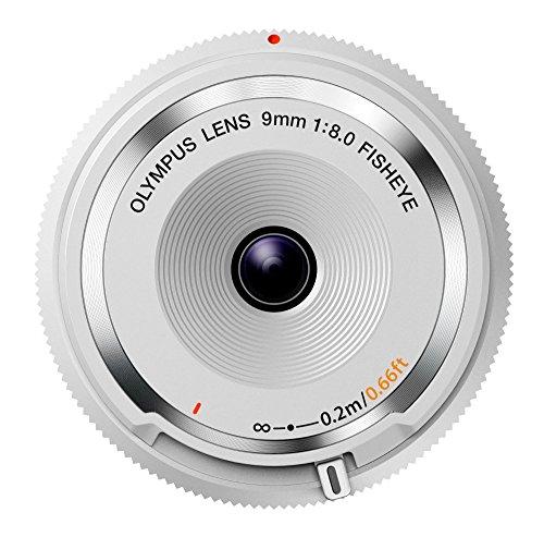 OLYMPUS ミラーレス一眼 9mm f8 フィッシュアイ ボディキャップレンズ ホワイト BCL-0980 WHT