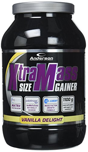 Anderson Research IAF00086993 Xtra Mass Size Gainer, 1100 g, Vaniglia