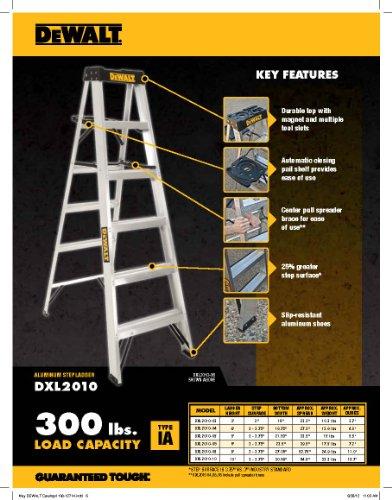 DeWalt DXL2010-02 2-Feet Aluminum Stepladder Type IA with 300-Pound Duty Rating, 2-Feet,Silver