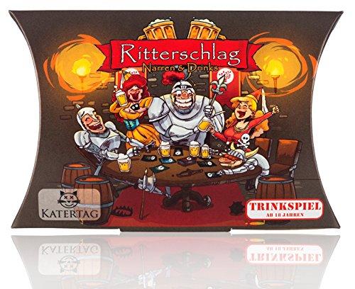 Katertag Trinkspiel - Ritterschlag - Narren und Drinks - Das kreativste Trinkspiel Aller Zeiten - für Erwachsene ab 18 Jahren - lustiges Partyspiel - Karten-Spiel Saufspiel Trinkspiele