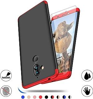 Nokia 7 Plus fodral, AChris helt skyddande anti-säkert telefonfodral för Nokia 7 Plus ultratunn PC-stötfångare med härdat ...