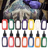 14 farben Tattoo Ink Set, Körperfarbe Pigment Kit Professionelle Pernament Make up Tattoo Ink Versorgung Microblading Tinte, Professionelle Tattoofarbe Set für Tattoo Maschine Tattoo Tinte (14)