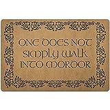 Zome Lag Felpudo Alfombrilla de Bienvenida Alfombras de Puerta No se Camina Simplemente hacia Mordor Tolkien Alfombra de baño de El señor de los Anillos 40X60CM