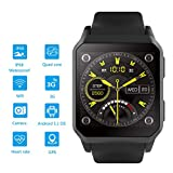 CoolLR Smart Watch Fitness Trackers Smart Watch Cardiofrequenzimetro 3g Square Screen Ip68 Depth...