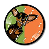 NIGU Orologio da parete da cucina grande orologio da parete Cartoon bassotto cane adorabile cucciolo salsiccia orologio telaio in metallo orologio