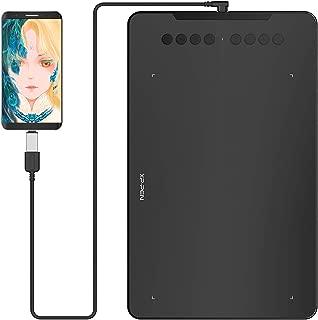XP-Pen ペンタブ Decoシリーズ 携帯:Android6.0以上端末対応ペンタブ 10x6.25インチ エクスプレスキー 8個 Deco01 V2