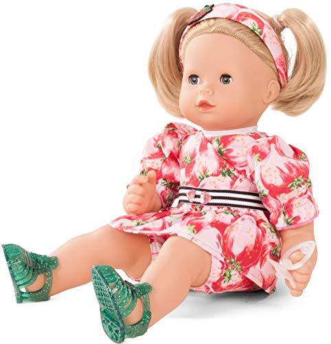 Götz 1827190 Maxy Muffin Strawberry Fields Puppe - 42 cm große Babypuppe mit blauen Schlafaugen, Blonde Haare und Weichkörper - Weichkörperpuppe in 8-teiligen Set