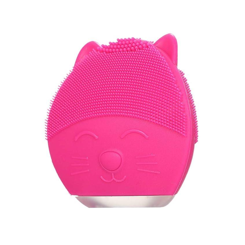 設計図ベンチ裂け目Galapara 洗顔ブラシ 超音波洗顔 防水 シリコン製 充電式