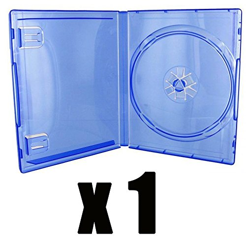 DVD Center - 1 carcasa DVD para juego PS4 en color azul transparente - Compra unitaria