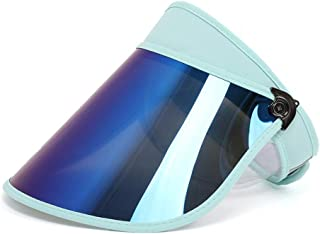 LONGren Big Eaves Empty Top Hat, Summer Outdoor Riding Golf Cool Hat, Foldable Sun Protection Sandproof with Chin Band (Co...