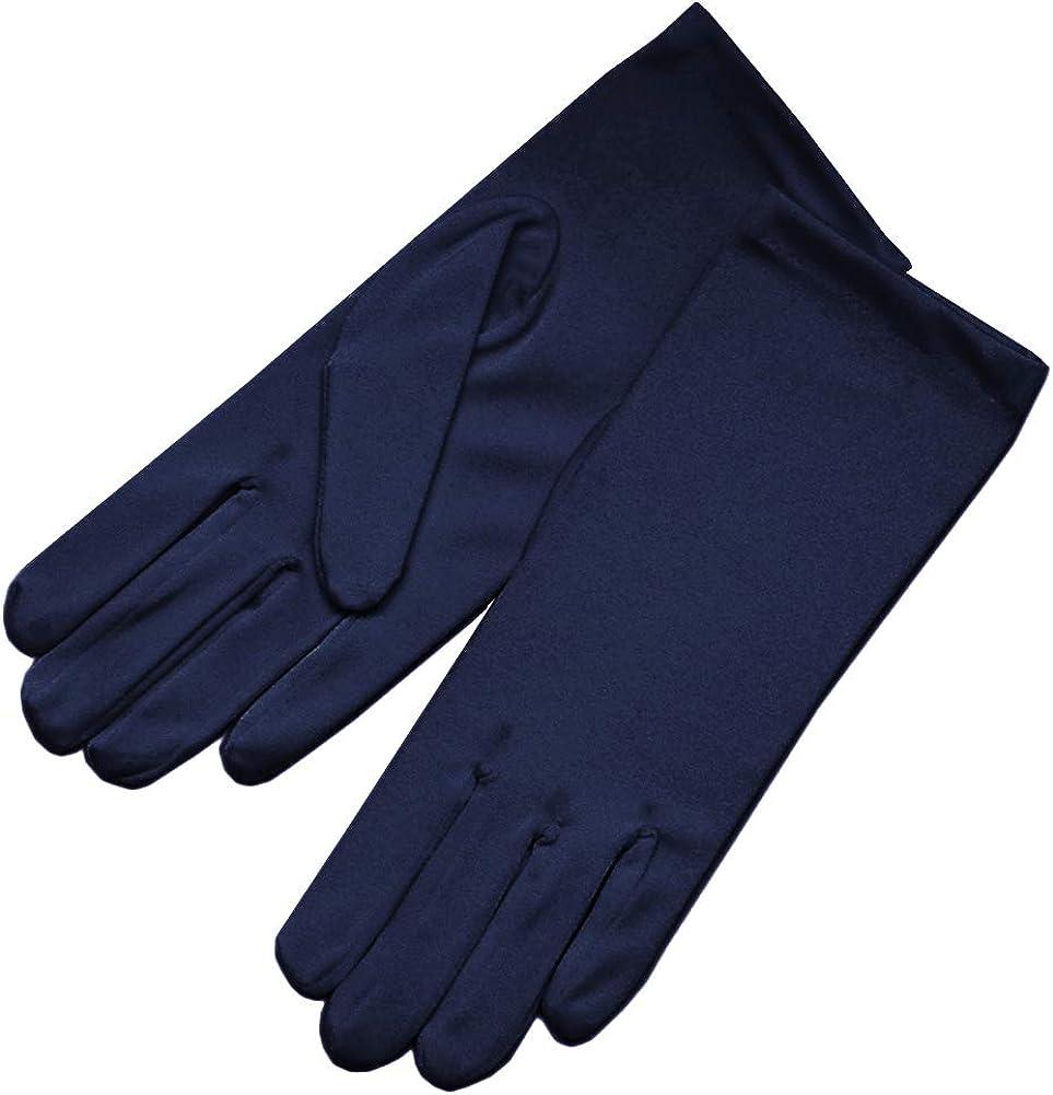 ZAZA BRIDAL 4-Way Stretch Matte Satin Dress Gloves Wrist Length 2BL