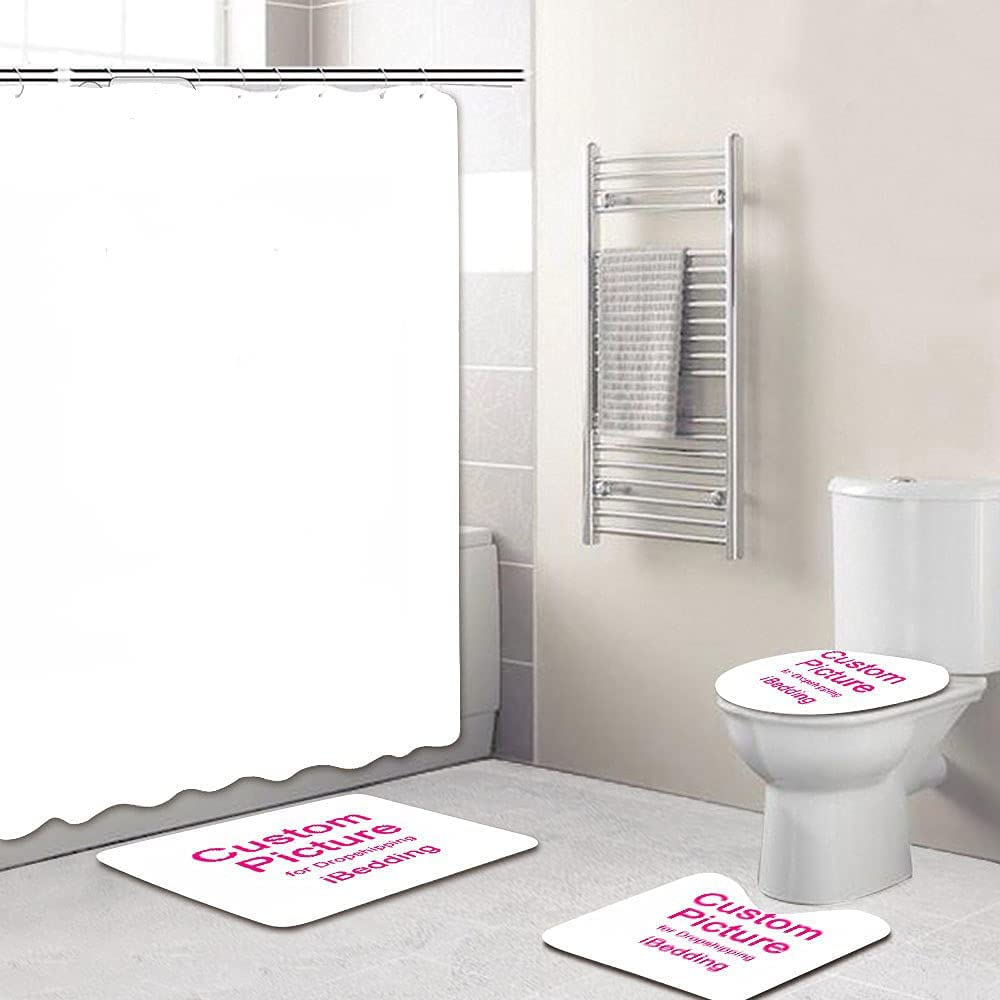 Columbus Mall Yuaobeimei Customized Atlanta Mall Photo Shower Curtain with Mat Rug Bathroom