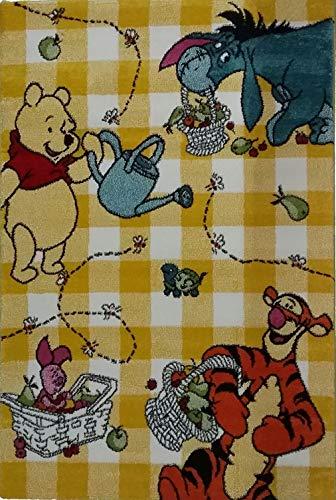 Teppich für Kinder – Disney Winnie the Pooh – Größe cm 120 x 170 – Kurzflor 13 mm-variante gelb