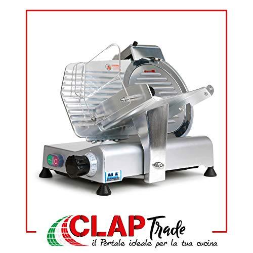 Ala Affettatrice Professionale Elettrica 150W Lama 25 cm Alluminio Acciaio SL810