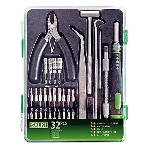 Salki 8652028.0 8652028-Juego Destornilladores precisión 32 pcs, Metal, L