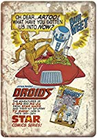 スター・ウォーズドロイドスターコミックシリーズブック 金属板ブリキ看板注意サイン情報サイン金属安全サイン警告サイン表示パネル