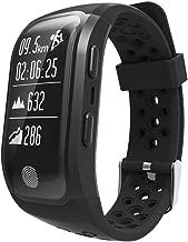 ZMDHLY S908 Smart Watch Wristband Dynamic Heart Rate IP68 Waterproof Smart Bracelet GPS Running Fitness Tracker Smart Bracele,Black