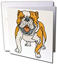 Cute and Cuddly Canine Brown English Bulldog - Greeting Cards, 6 x 6 inches, set of 12 (gc_128962_2)
