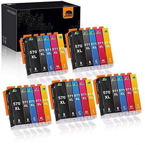 JARBO 570XL 571XL Kompatibel mit Canon PGI 570 CLI 571 Druckerpatronen Multipack für Canon PIXMA MG5750 MG5751 MG5752 MG6850 MG6851 MG6852 TS5000 TS5050 TS5051 TS5055 TS5150 TS6050 TS6051, 25er-Pack