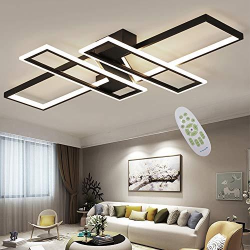 LED Plafonnier Moderne Salon Lumière Lustre Dimmable...